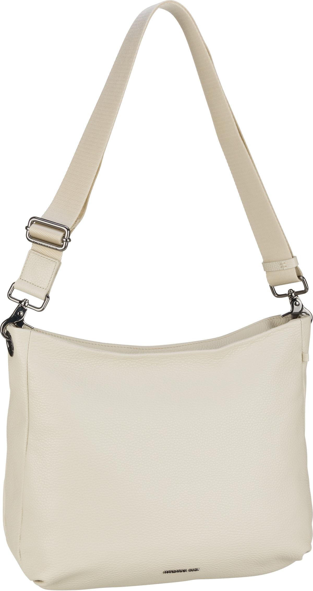 mandarina duck -  Handtasche Mellow Leather Hobo FZT34 Off White