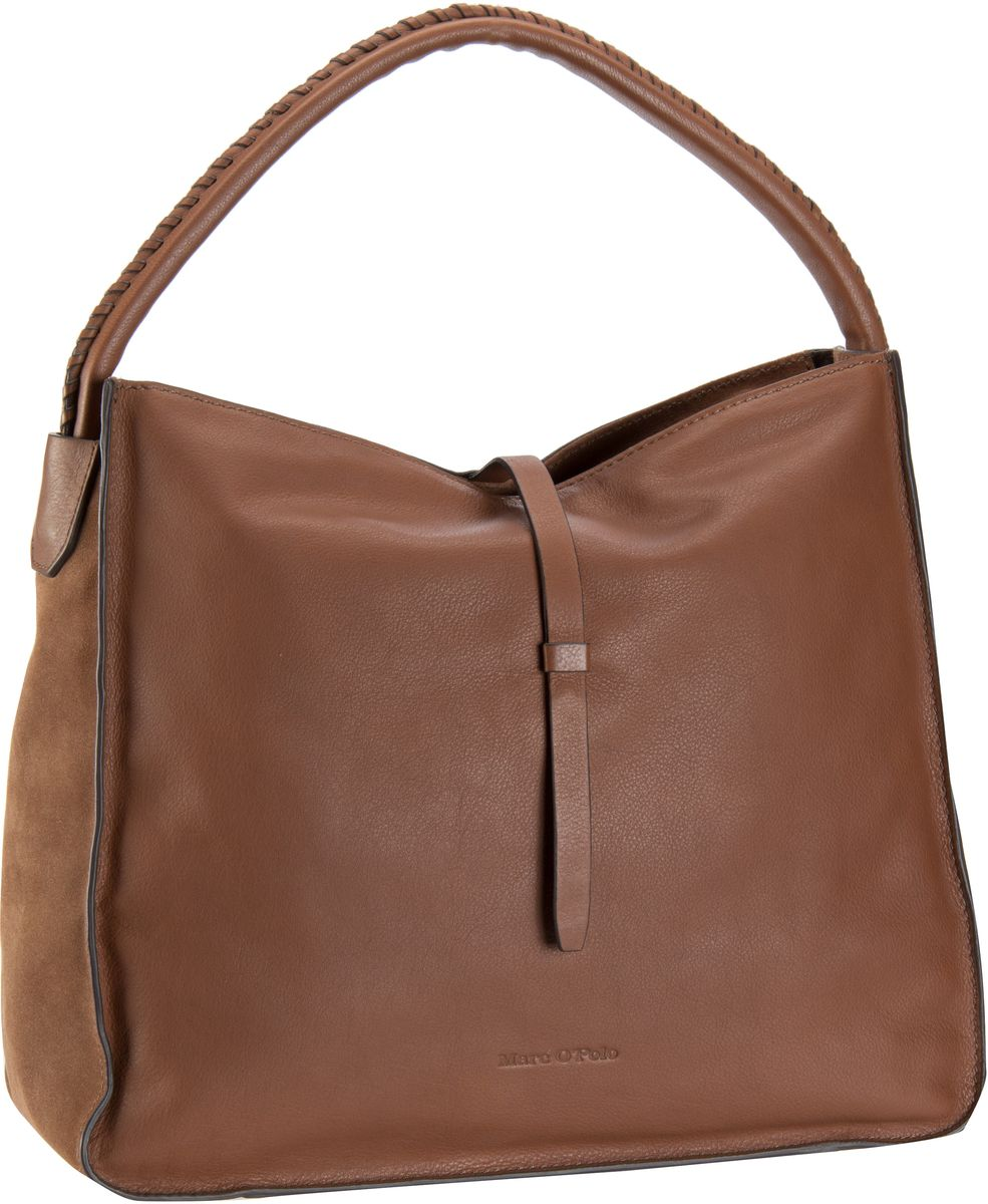 marc o 39 polo lara hobo bag m cognac beuteltasche hobo bag von marc o 39 polo. Black Bedroom Furniture Sets. Home Design Ideas