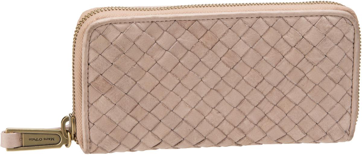Marc O´Polo W5 Zip Wallet L Woven Sand - Kellne...