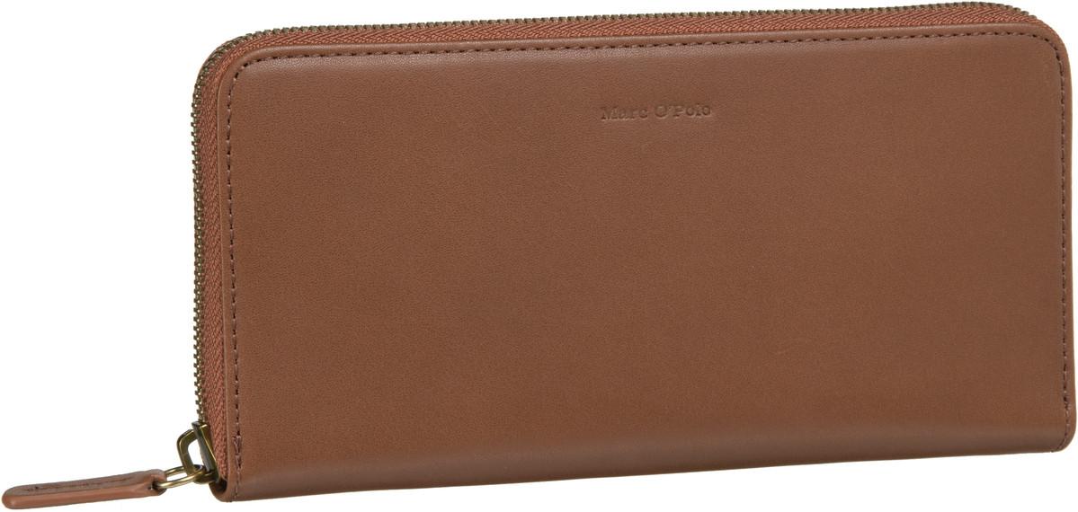 Geldboersen für Frauen - Marc O'Polo Kellnerbörse W30 Zip Wallet L Copenhagen Cognac  - Onlineshop Taschenkaufhaus