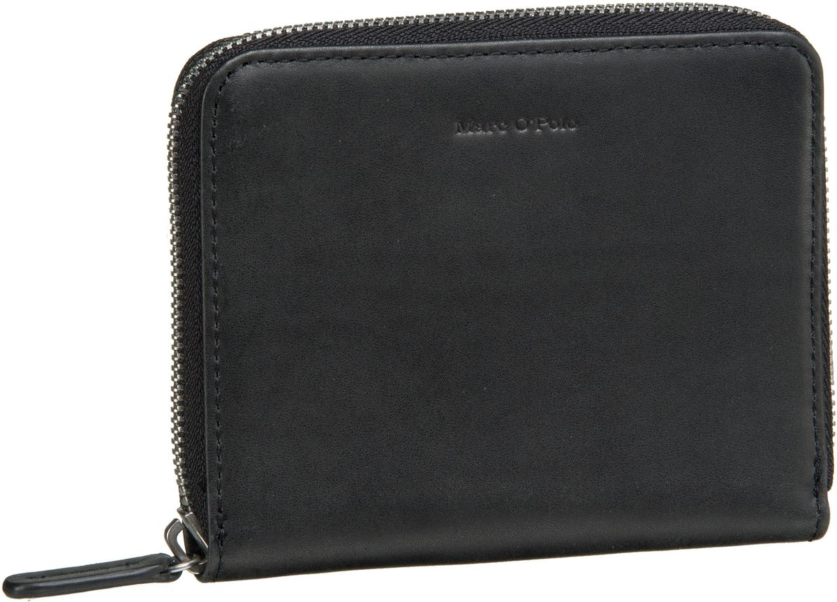 Geldboersen für Frauen - Marc O'Polo Geldbörse W46 Zip Wallet M Copenhagen Black  - Onlineshop Taschenkaufhaus