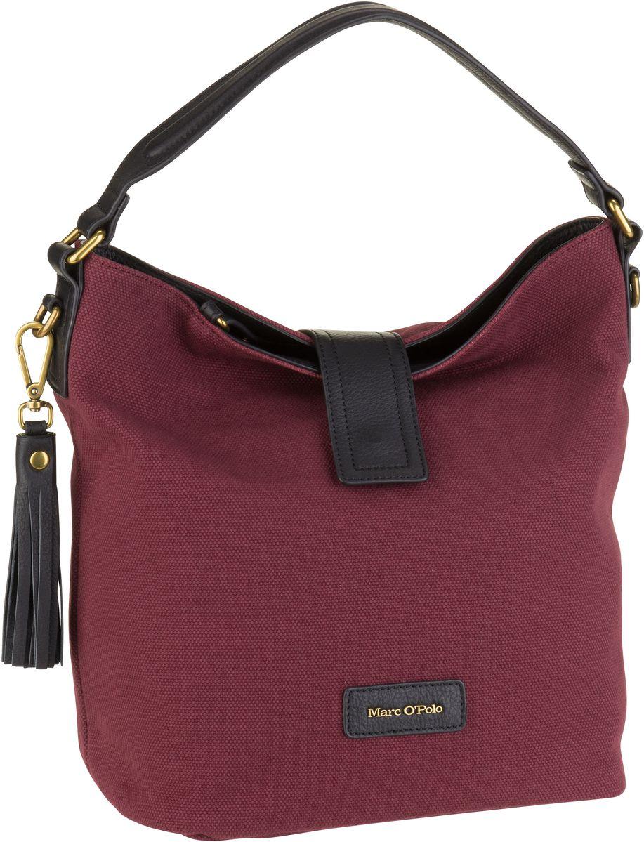 Handtaschen für Frauen - Marc O'Polo Handtasche Ruby Rough Canvas Burgundy Red  - Onlineshop Taschenkaufhaus