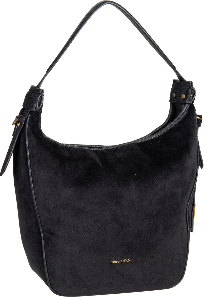 Marc O' Handtasche Liv Hobo Bag M Velvet Black