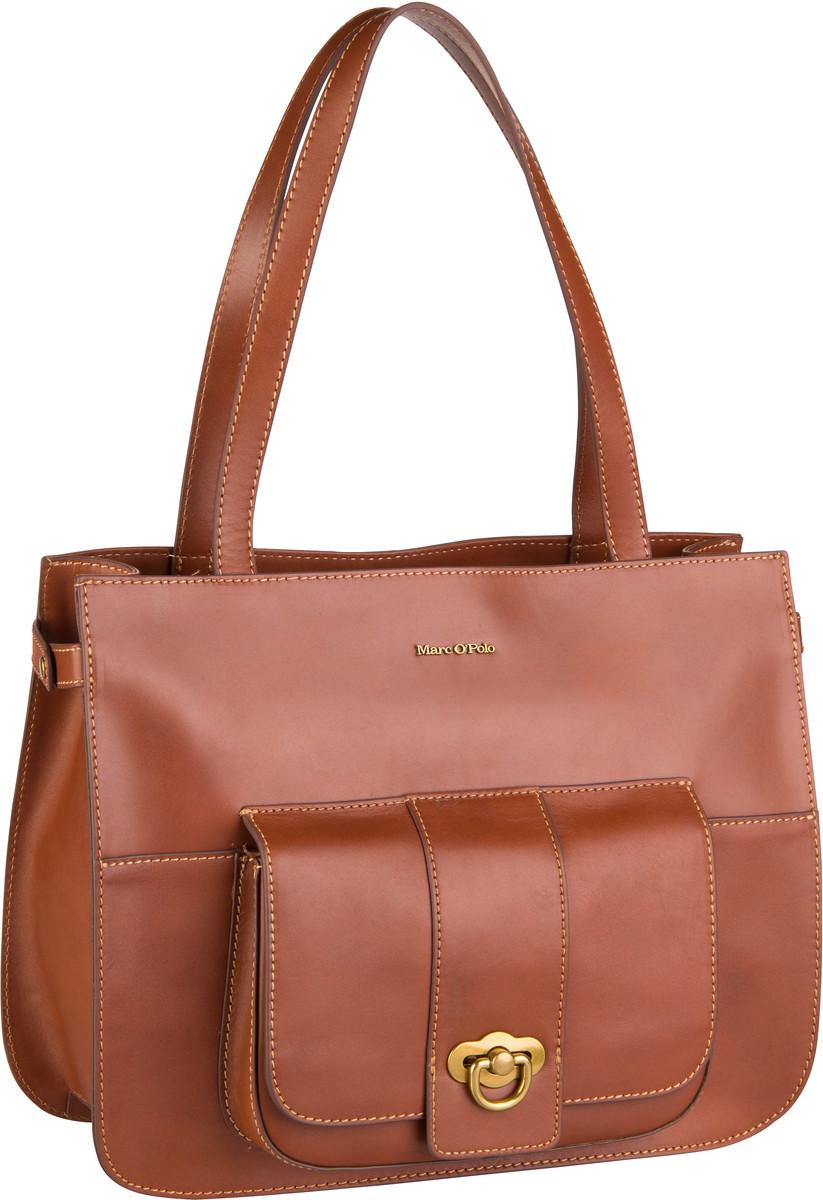 Marc O' Handtasche Kata Shopper M Authentic Leather Authentic Cognac