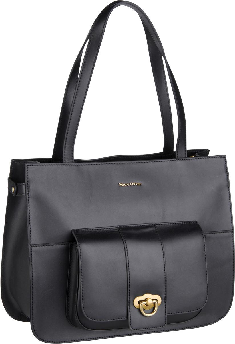 Marc O' Handtasche Kata Shopper M Authentic Leather Black