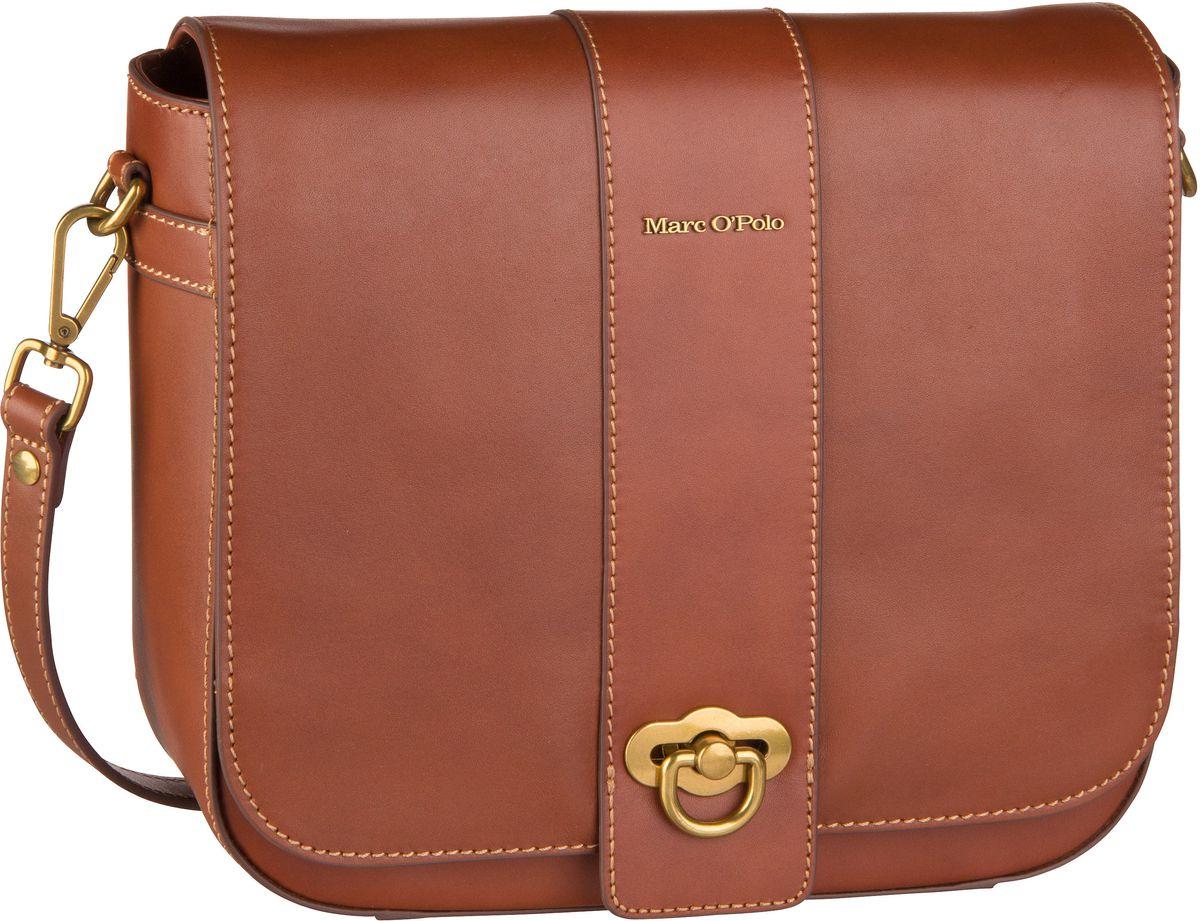 Marc O' Umhängetasche Marta Crossbody Bag M Authentic Leather Authentic Cognac