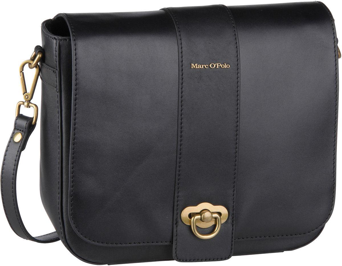 Marc O' Umhängetasche Marta Crossbody Bag M Authentic Leather Black