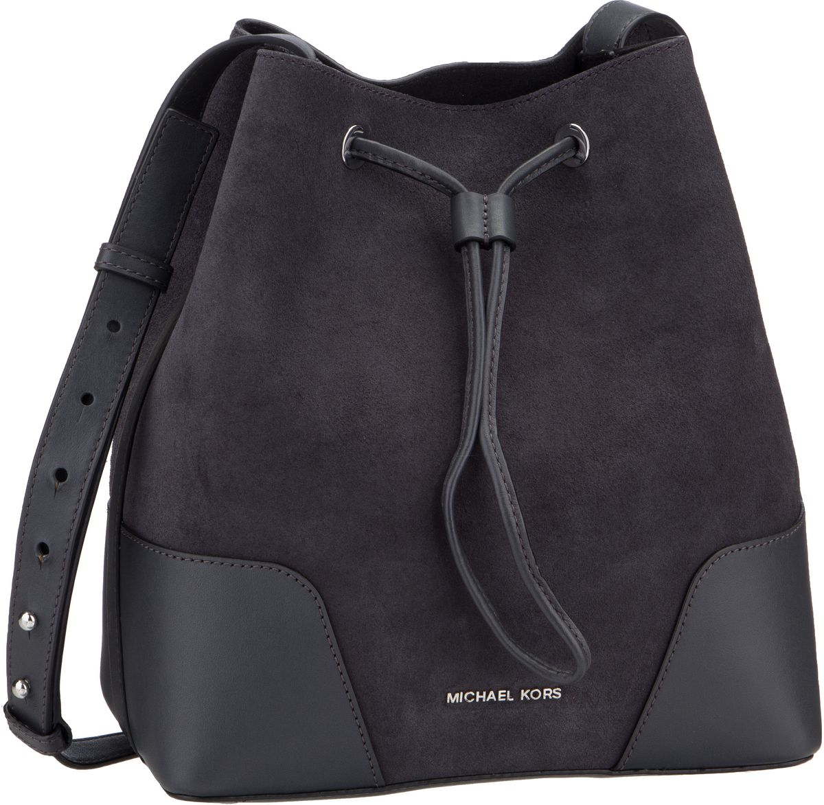 Michael Kors Handtasche Cary Medium Bucket Bag Suede Charcoal