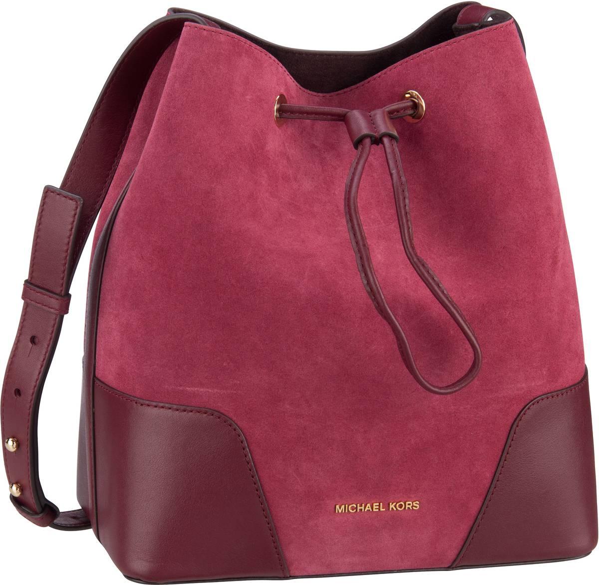 Michael Kors Handtasche Cary Medium Bucket Bag Suede Maroon/Oxblood