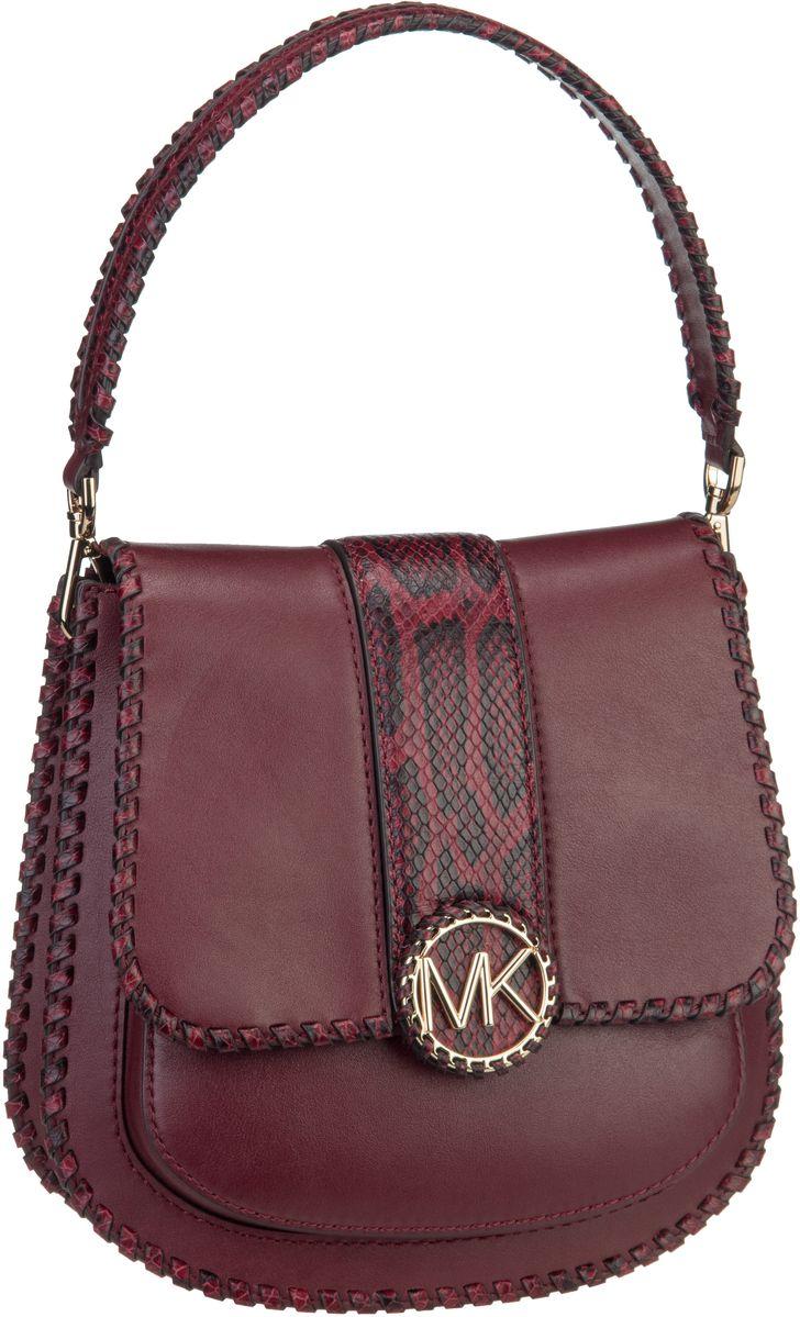 Michael Kors Handtasche Lillie Medium Flap Messenger Oxblood/Maroon
