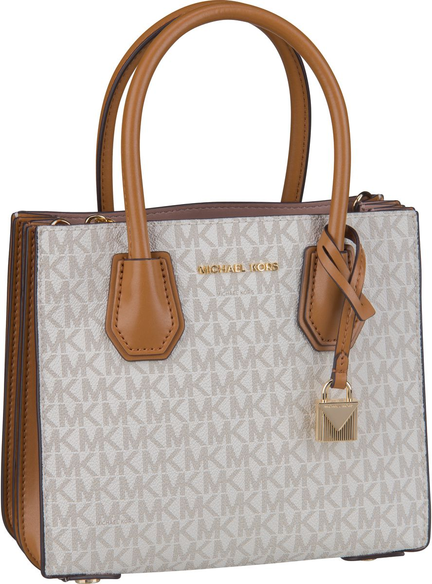 Michael Kors Handtasche Mercer Medium Messenger MK Signature Vanilla