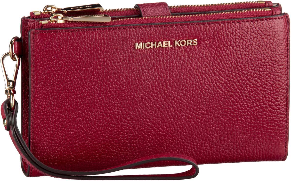 Michael Kors Handtasche Adele Doublezip Wristlet Maroon