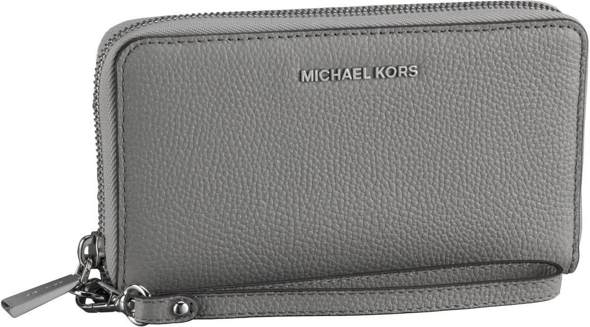 Michael Kors Handtasche Mercer Large Flat MF Phone Case Pearl Grey