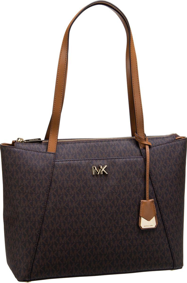 Michael Kors Shopper Maddie Medium EW TZ Tote MK Signature Brown/Black