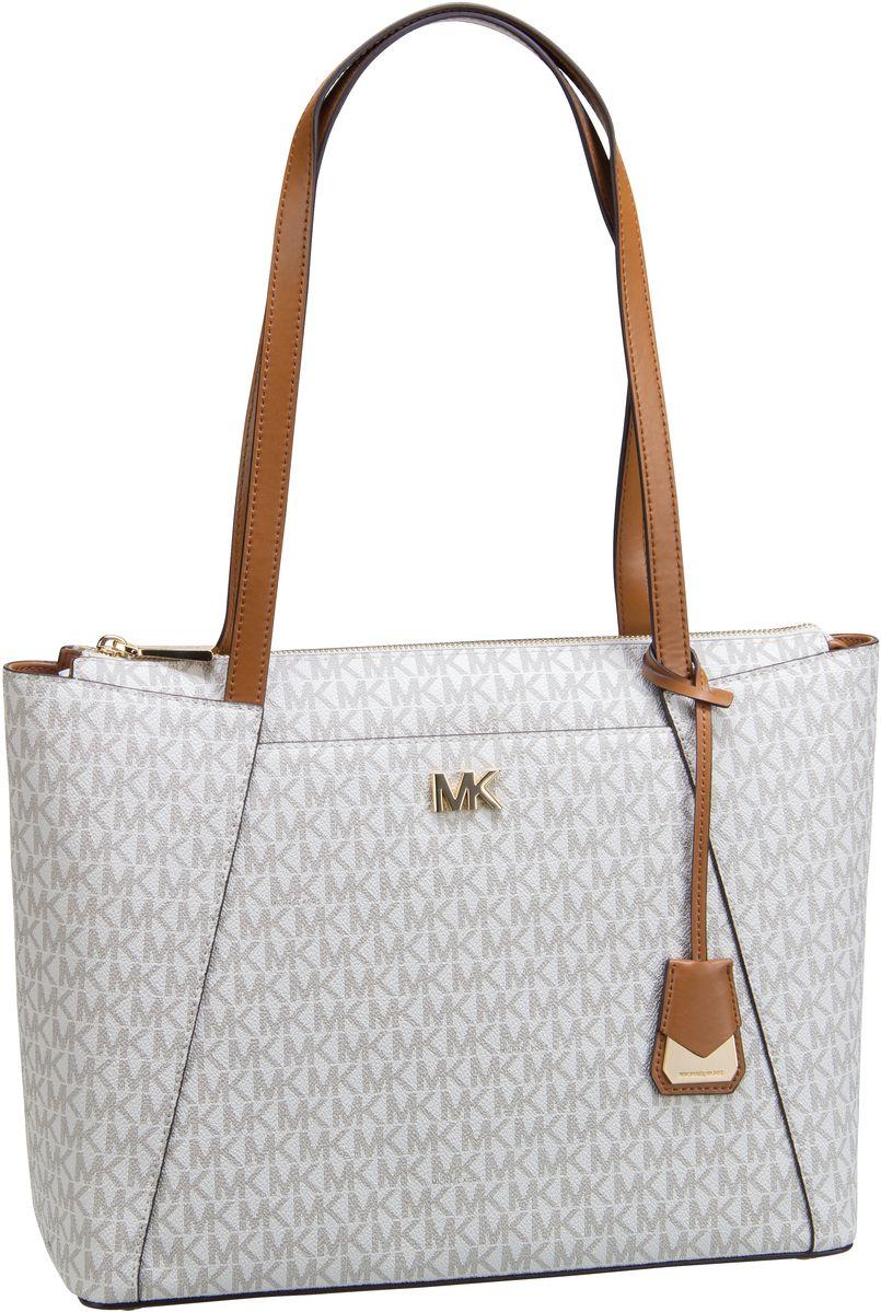 Michael Kors Shopper Maddie Medium EW TZ Tote MK Signature Vanilla/Acorn