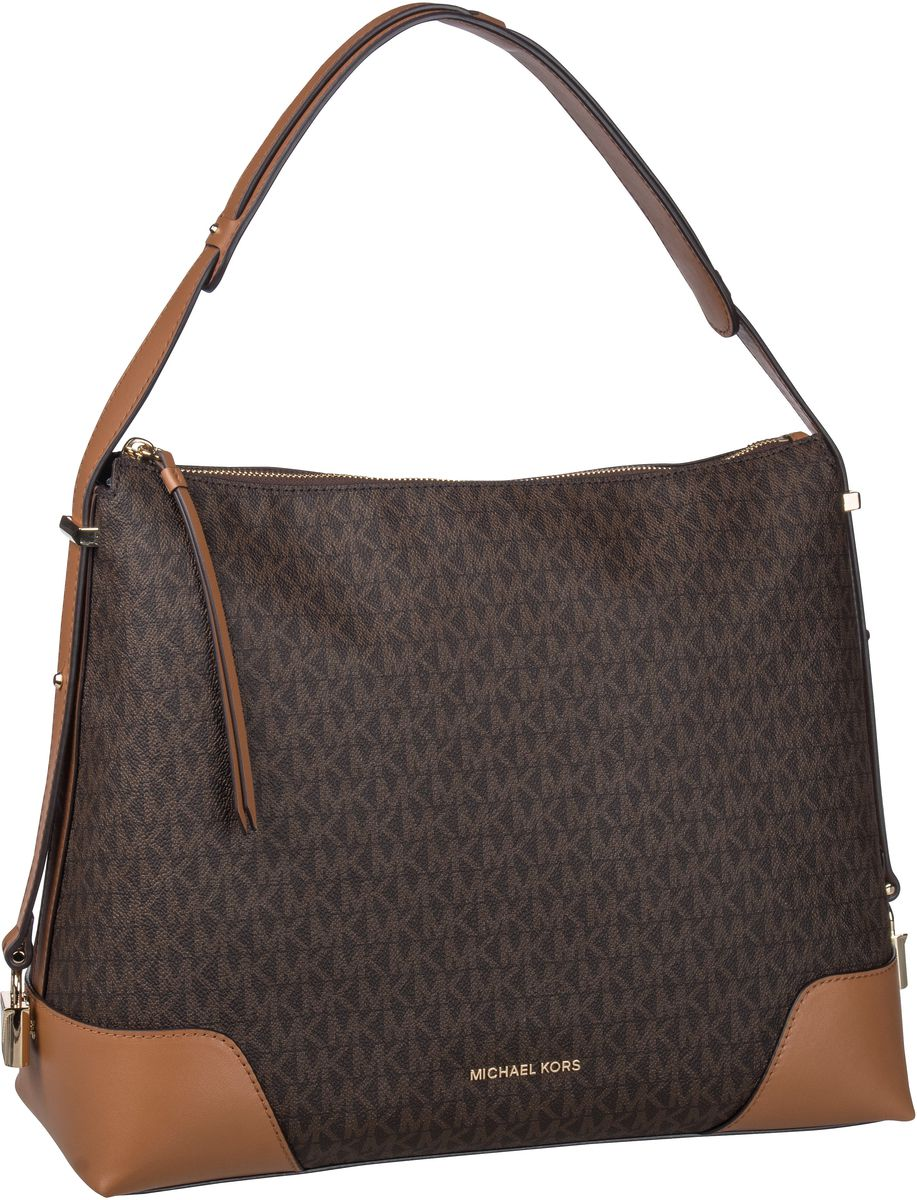 Michael Kors Handtasche Crosby Large Shoulderbag MK Signature Brown/Acorn