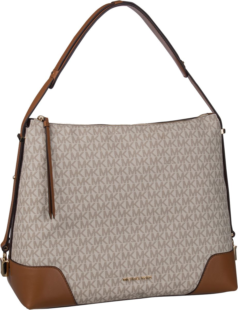 Michael Kors Handtasche Crosby Large Shoulderbag MK Signature Vanilla/Acorn