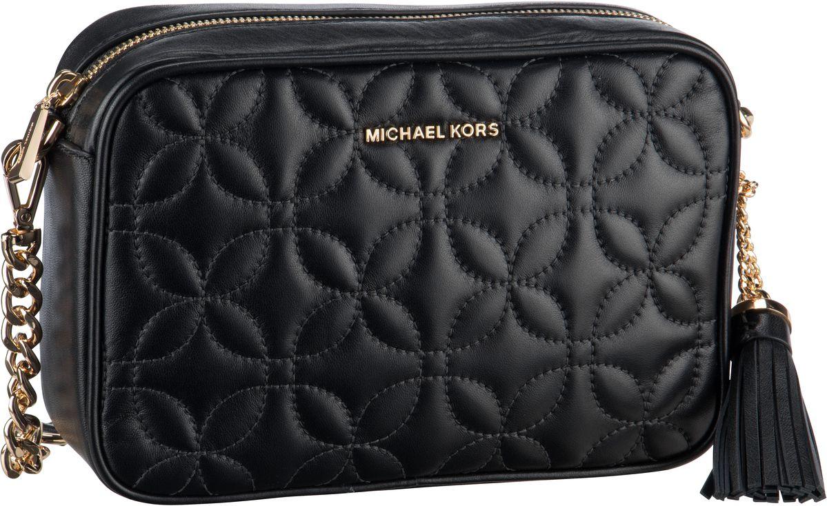 Michael Kors Umhängetasche Ginny Medium Camera Bag Flora Quilted Black