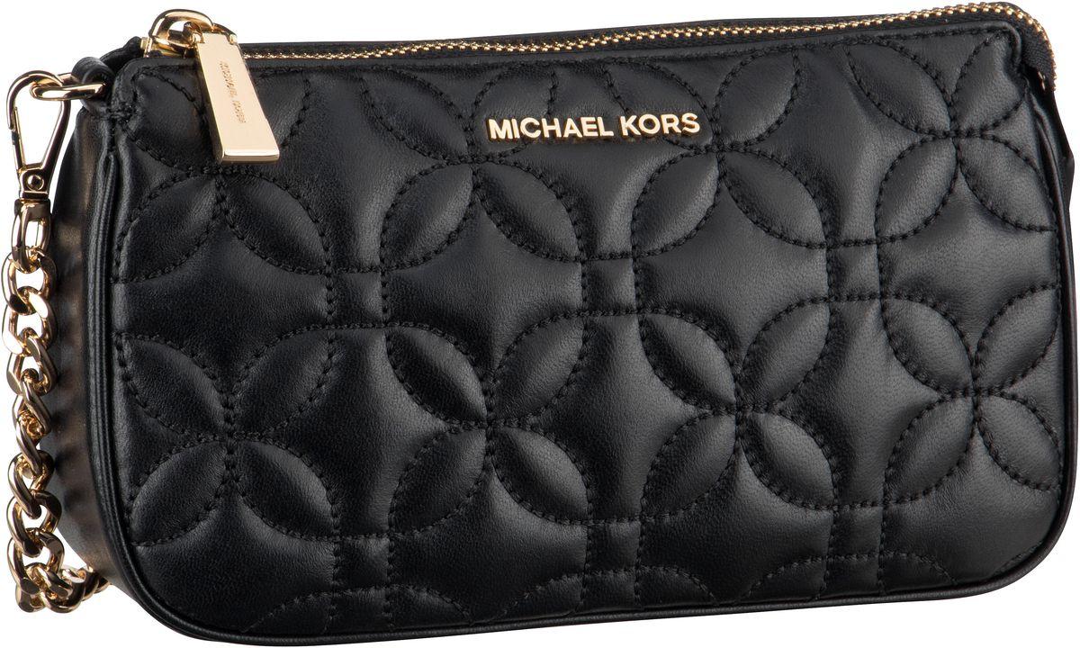 Michael Kors Handtasche Jet Set Chain Pouchette Flora Quilted Black