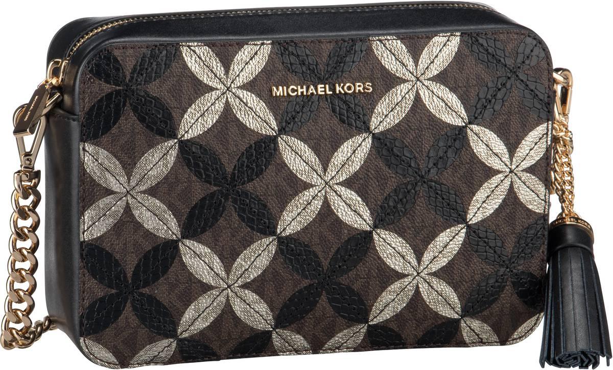 Michael Kors Umhängetasche Ginny Medium Camera Bag Python Brown/Black