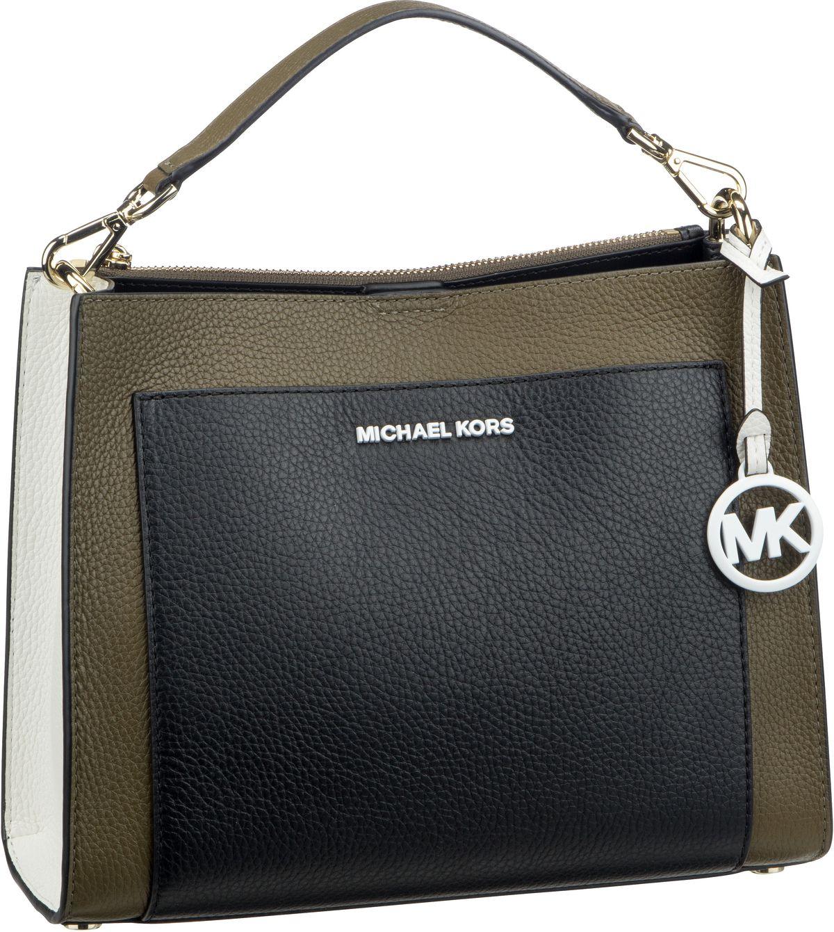 Michael Kors Handtasche Gemma Medium Pocket TH Satchel Olive Multi