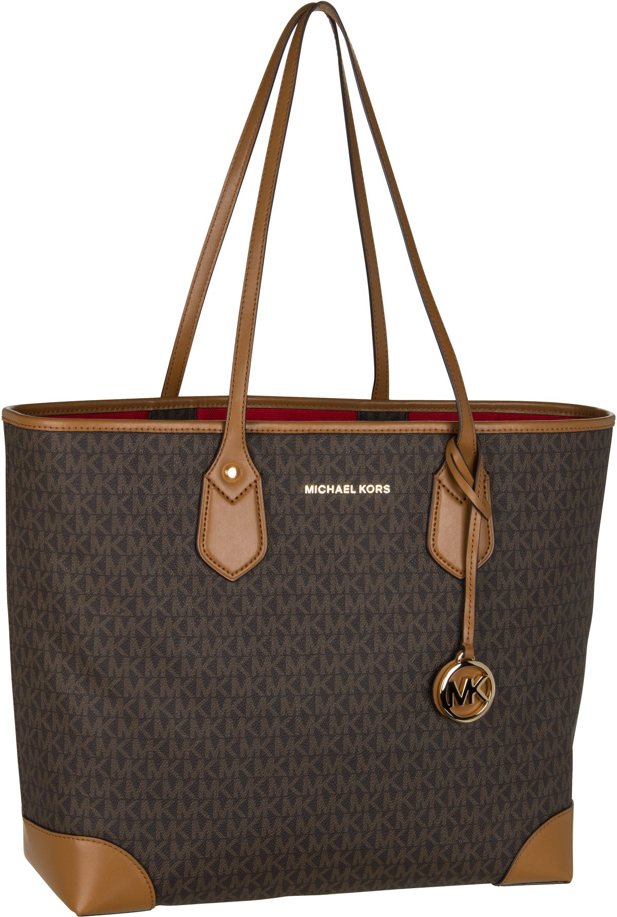 Michael Kors Shopper Eva Large Tote MK Signature Brown