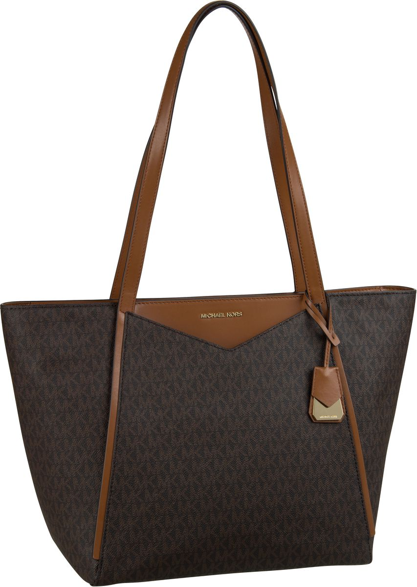 Michael Kors Shopper Whitney Large TZ Tote MK Signature Brown