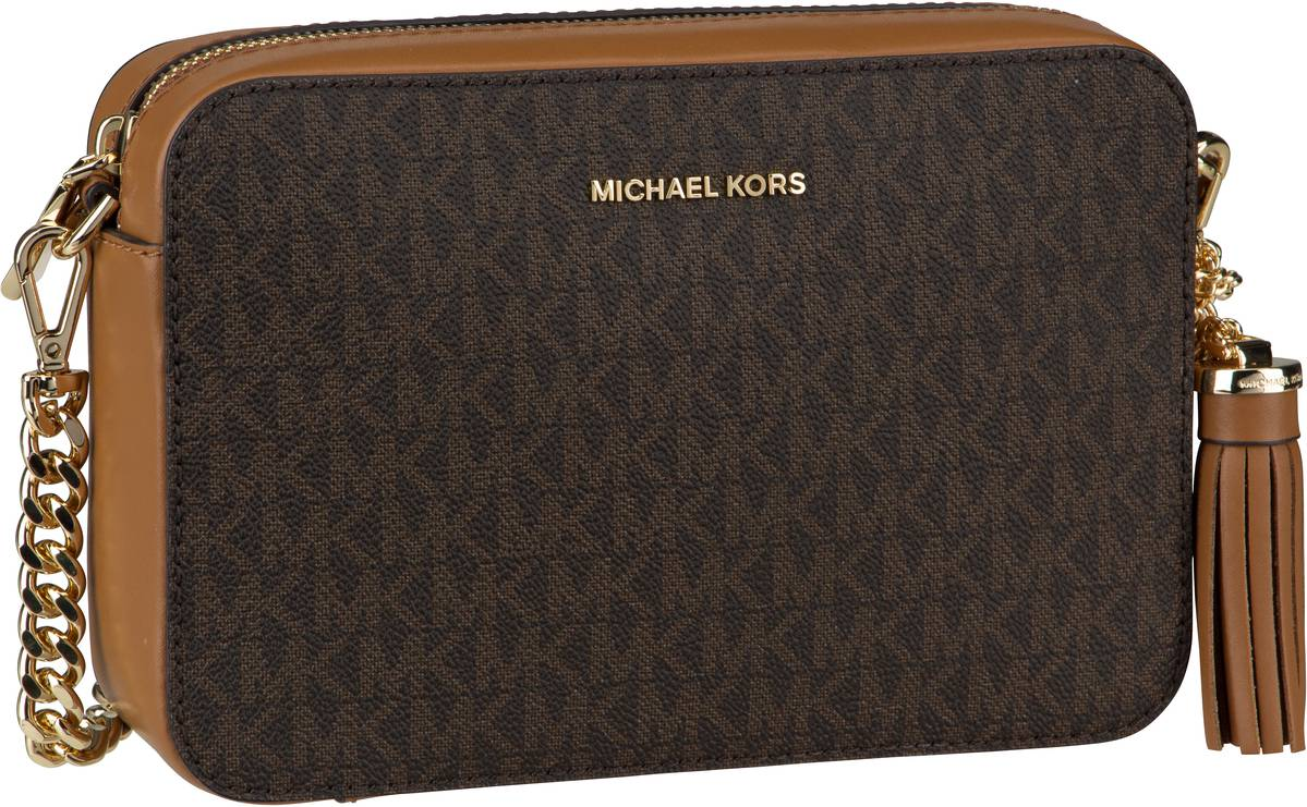 Michael Kors Umhängetasche Jet Set Medium Camera Bag MK Signature Brown