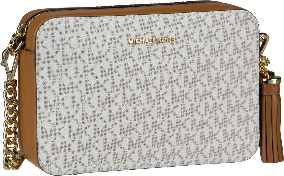 Michael Kors Umhängetasche Jet Set Medium Camera Bag MK Signature Vanilla