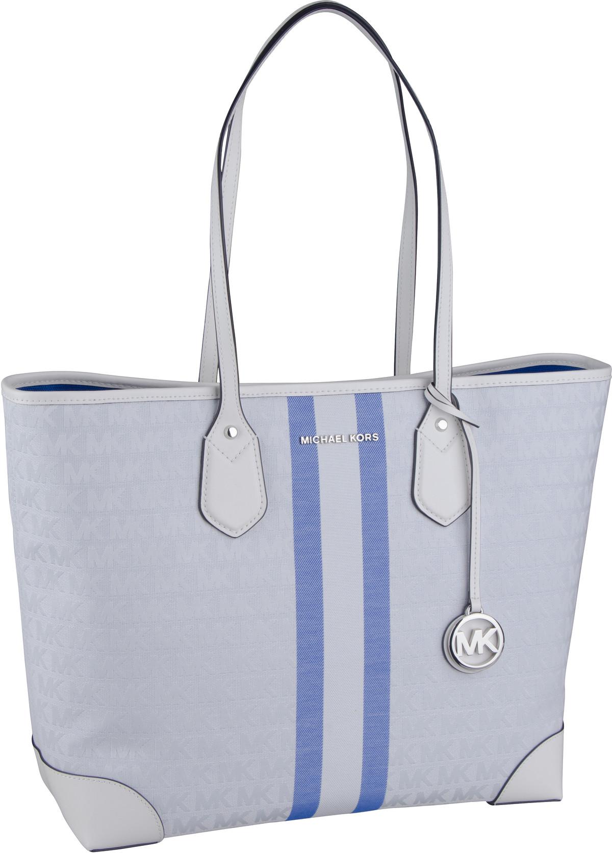 Michael Kors Shopper Eva Large Tote Stripe Grecian Blue Multi