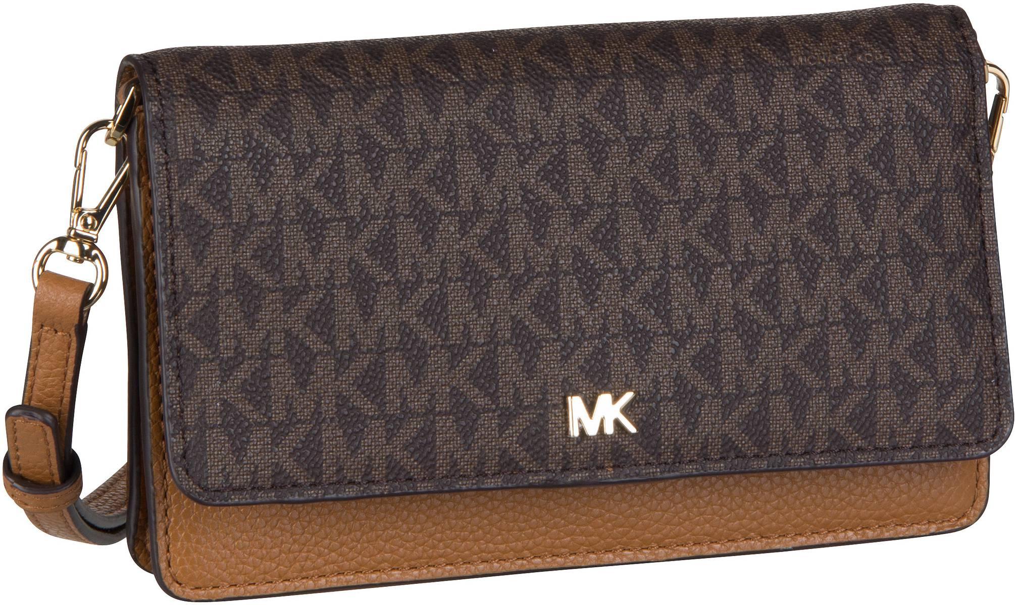 d73694899ba97 Michael Kors Handtasche Mott Phone Crossbody MK Signature Brown Acorn