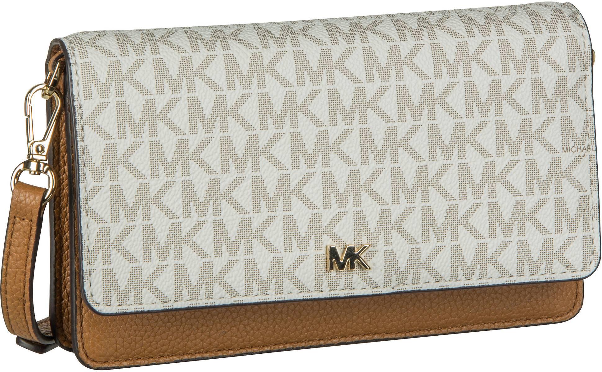 Michael Kors Handtasche Mott Phone Crossbody MK Signature Vanilla/Acorn