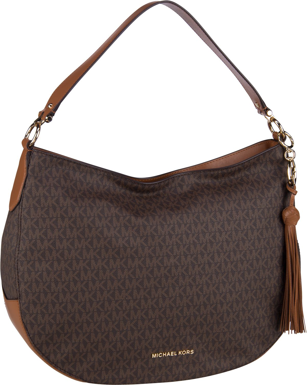 Michael Kors Handtasche Brooke Large Zip Hobo Brown/Acorn