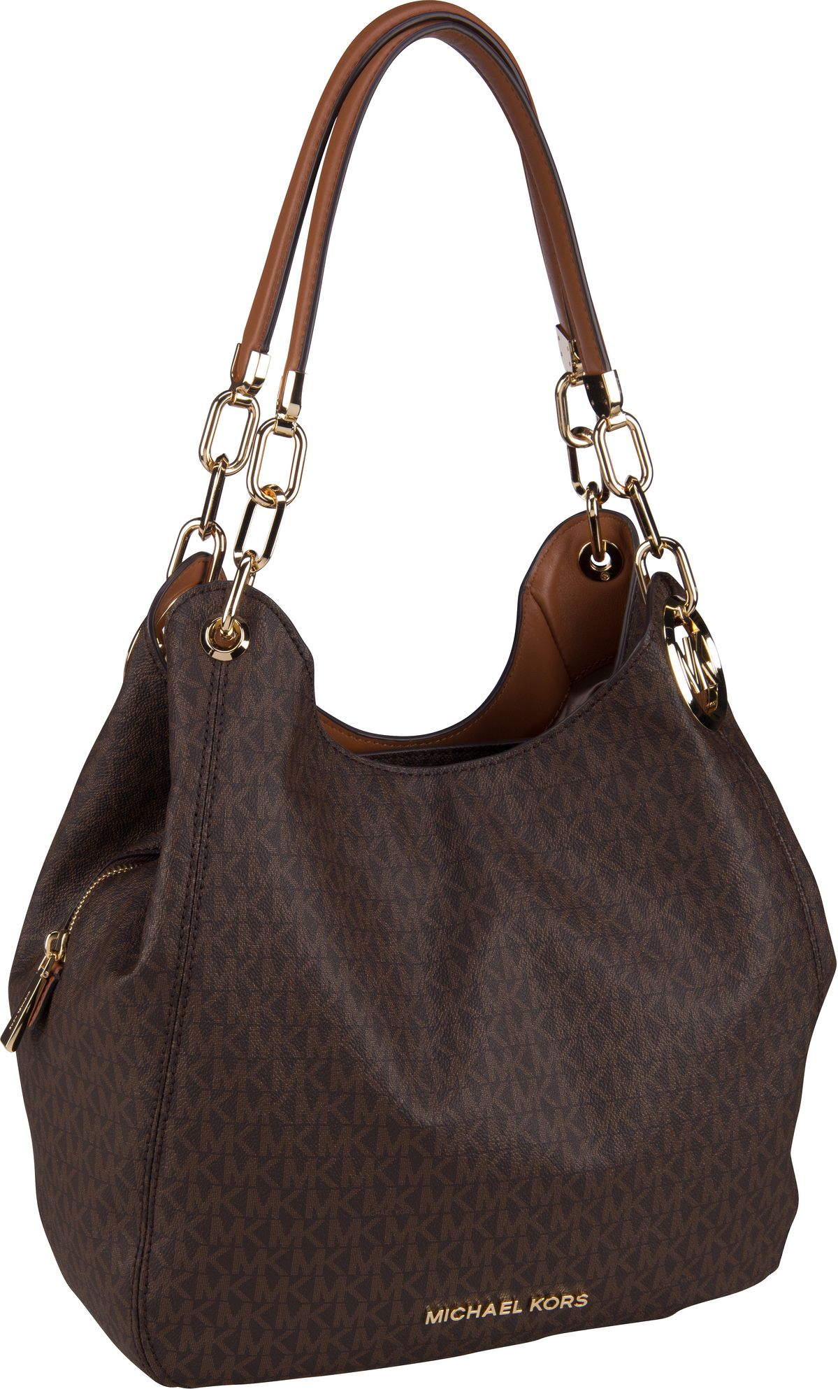 Michael Kors Handtasche Lillie Large Chain Shoulder Tote Brown/Acorn