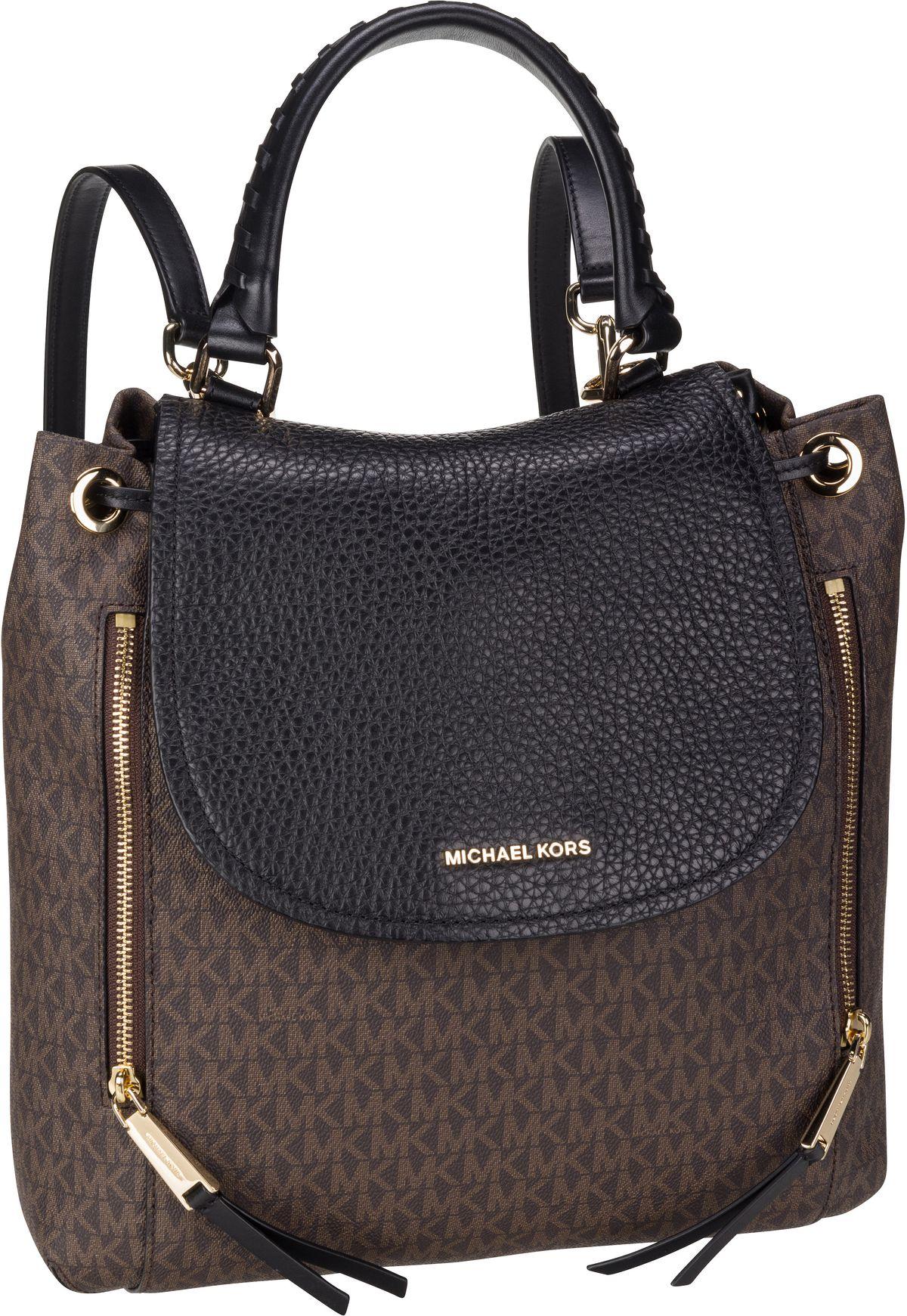 Rucksack / Daypack Viv Large Backpack MK Signature Brown/Black