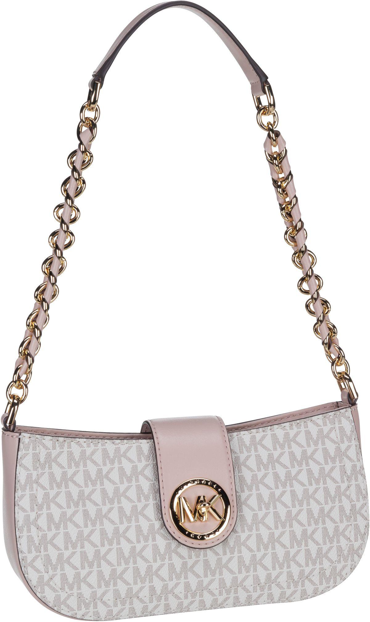 Michael Kors Handtasche Carmen XS Pouchette MK Signature Vanilla/Soft Pink