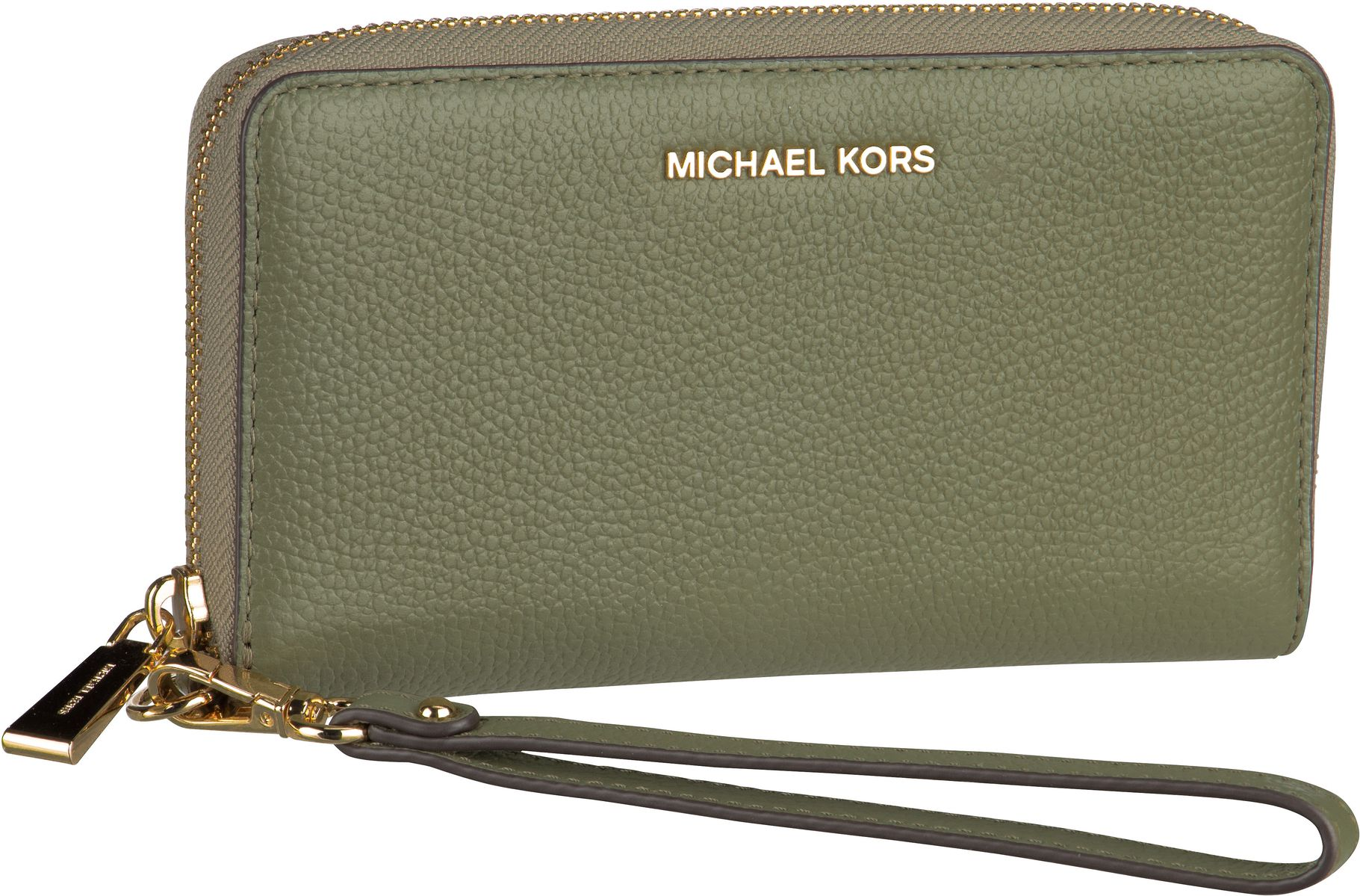 Michael Kors Handtasche Jet Set Large Flat MF Phone Case Saffiano Army Green
