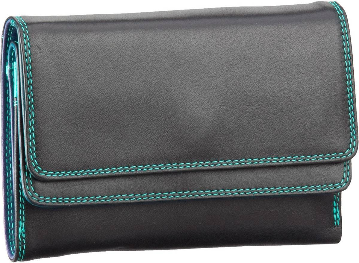 Geldboersen für Frauen - Mywalit Geldbörse Double Flap Purse Wallet Black Pace  - Onlineshop Taschenkaufhaus