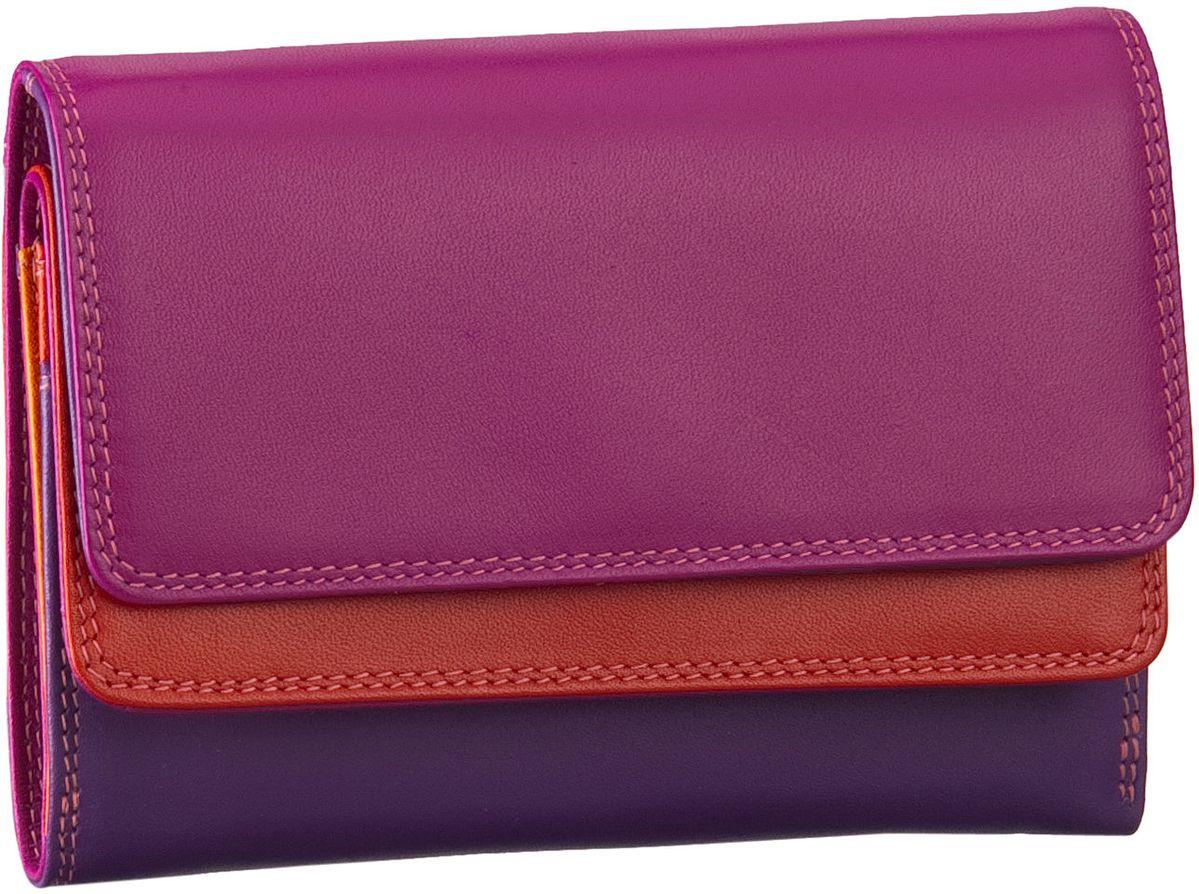 Geldboersen für Frauen - Mywalit Geldbörse Double Flap Purse Wallet Sangria Multi  - Onlineshop Taschenkaufhaus