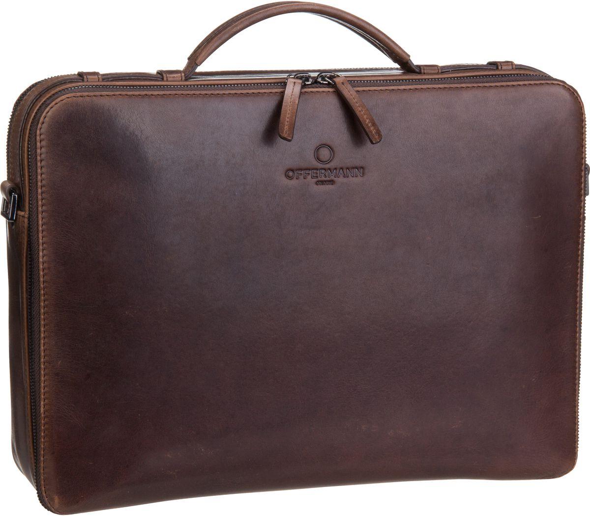 Offermann Workbag M Solid Chestnut Brown - Akte...