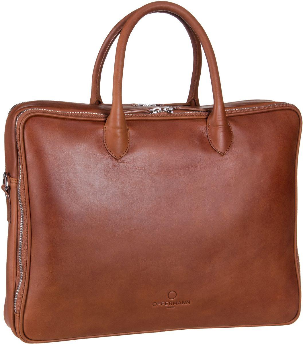 Businesstaschen für Frauen - Offermann Aktentasche Workbag Slim Fine Cognac (9 Liter)  - Onlineshop Taschenkaufhaus