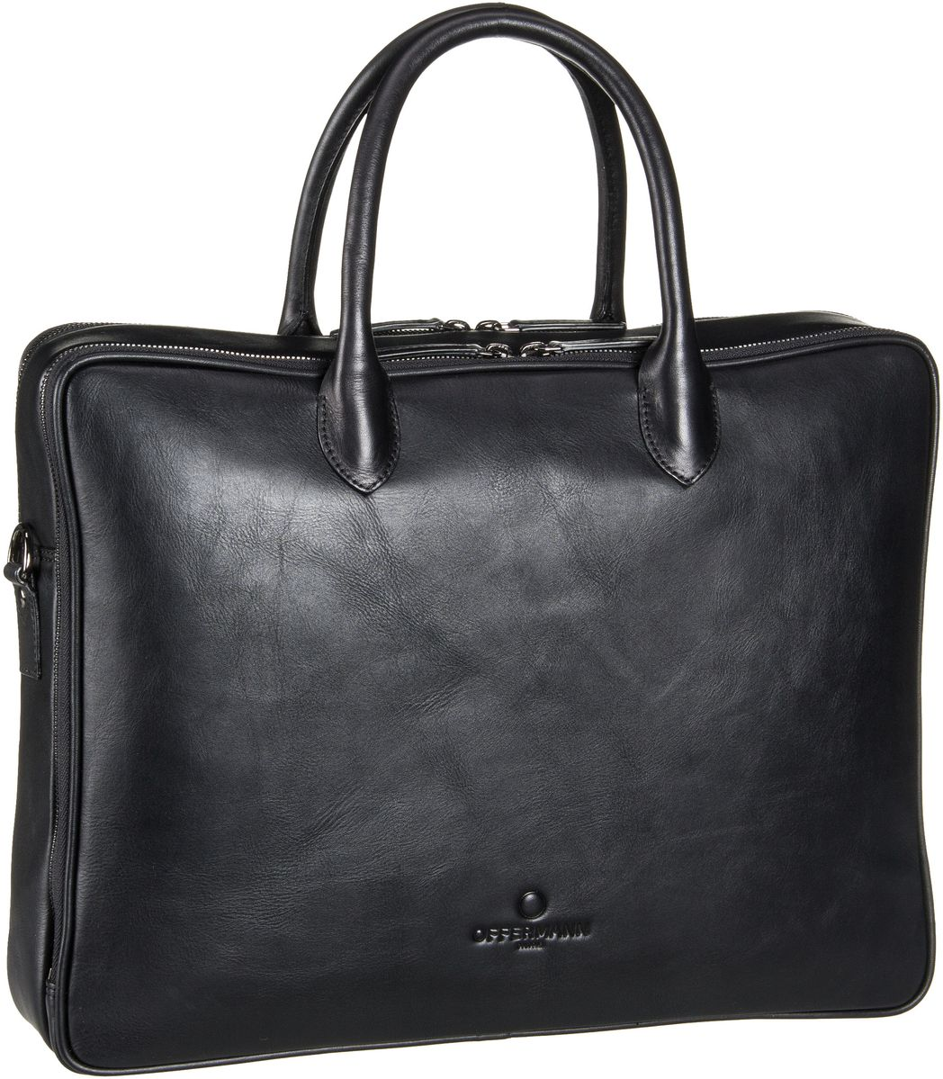 Offermann Workbag Slim Tender Deep Black Aktentasche