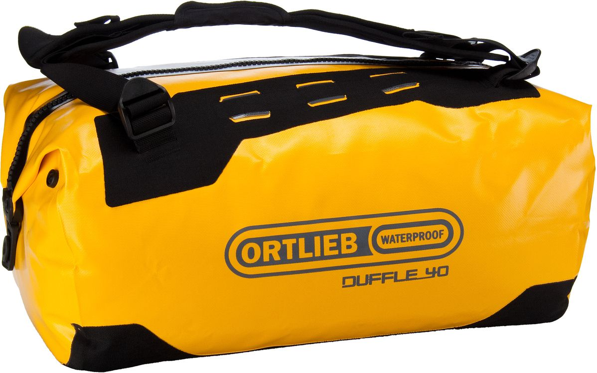 Reisegepaeck für Frauen - Ortlieb Reisetasche Duffle 40L Sonne Schwarz (40 Liter)  - Onlineshop Taschenkaufhaus