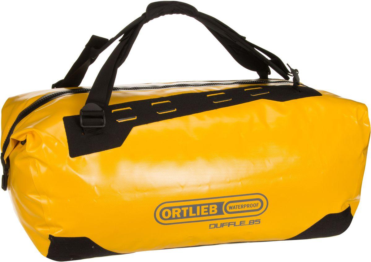 Reisegepaeck für Frauen - Ortlieb Reisetasche Duffle 85L Sonnengelb Schwarz (85 Liter)  - Onlineshop Taschenkaufhaus