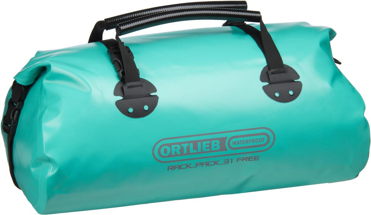 Reisegepaeck für Frauen - Ortlieb Reisetasche Rack Pack M Free Lagoon Black (31 Liter)  - Onlineshop Taschenkaufhaus