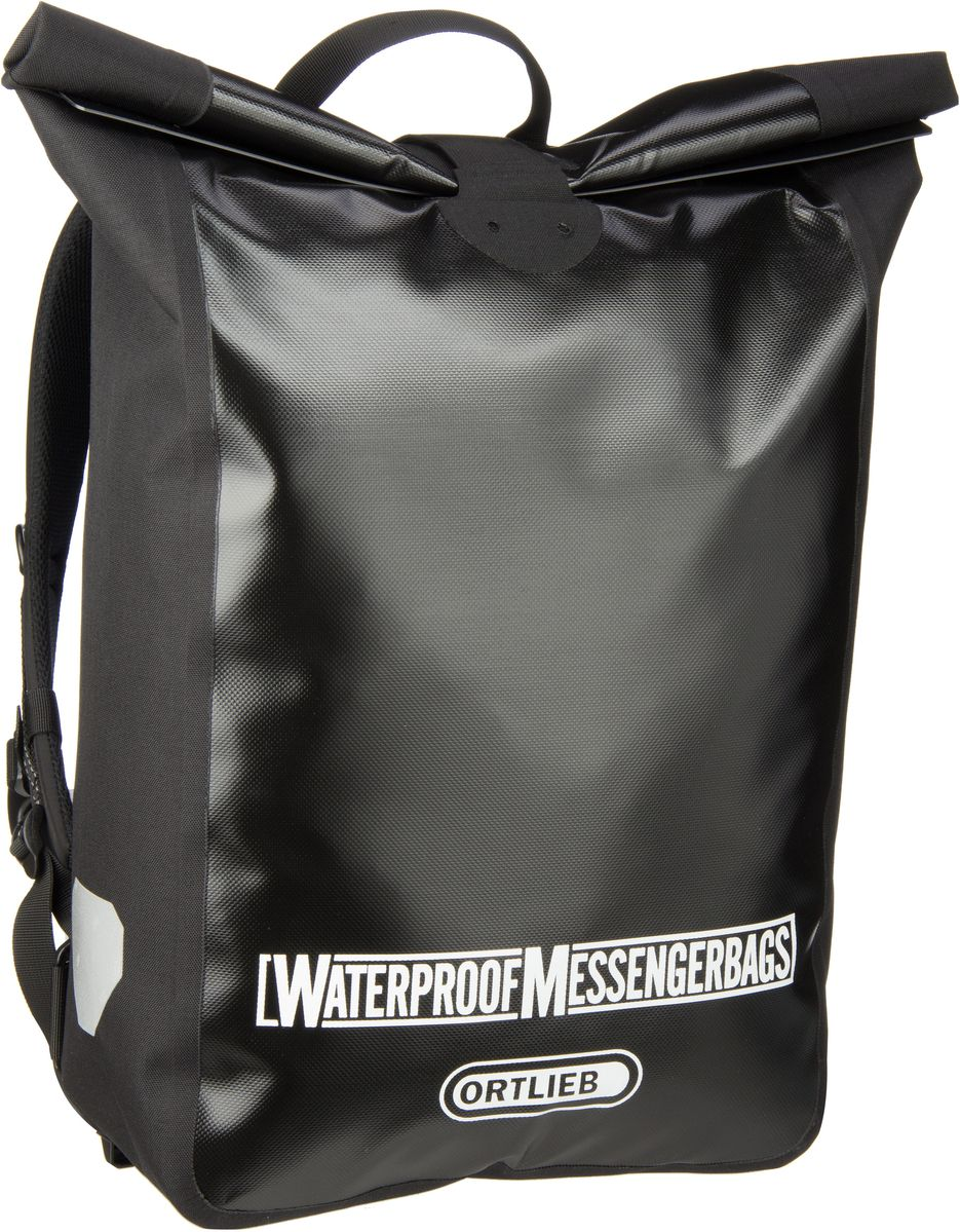 Rucksack / Daypack Kuriertasche Schwarz (39 Liter)