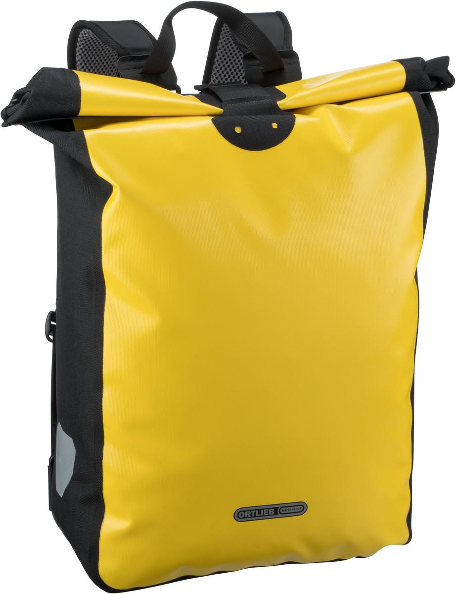 Rucksack / Daypack Messenger-Bag Gelb-Schwarz (39 Liter)