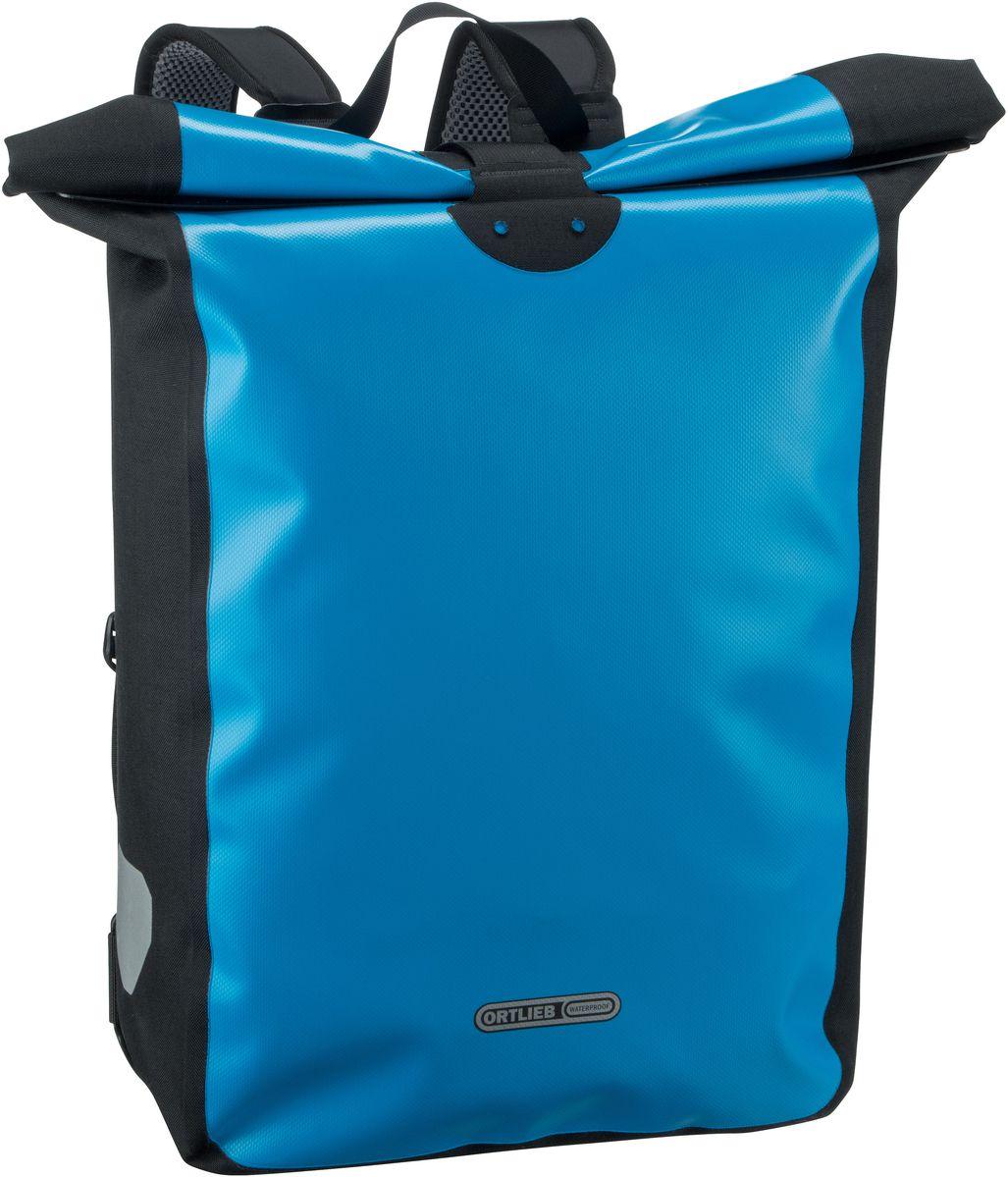 Rucksack / Daypack Messenger-Bag Ozeanblau-Schwarz (39 Liter)