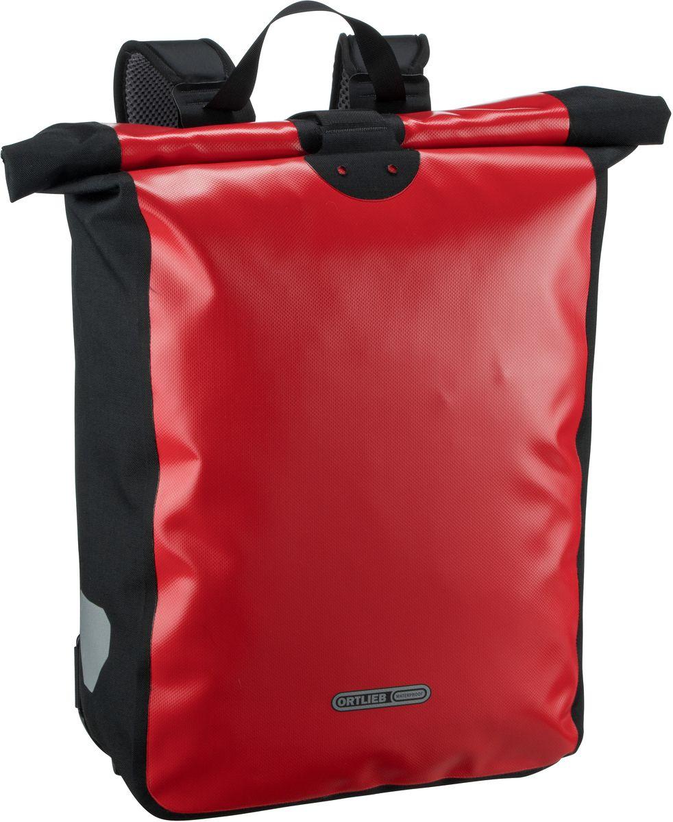 Rucksack / Daypack Messenger-Bag Rot-Schwarz (39 Liter)