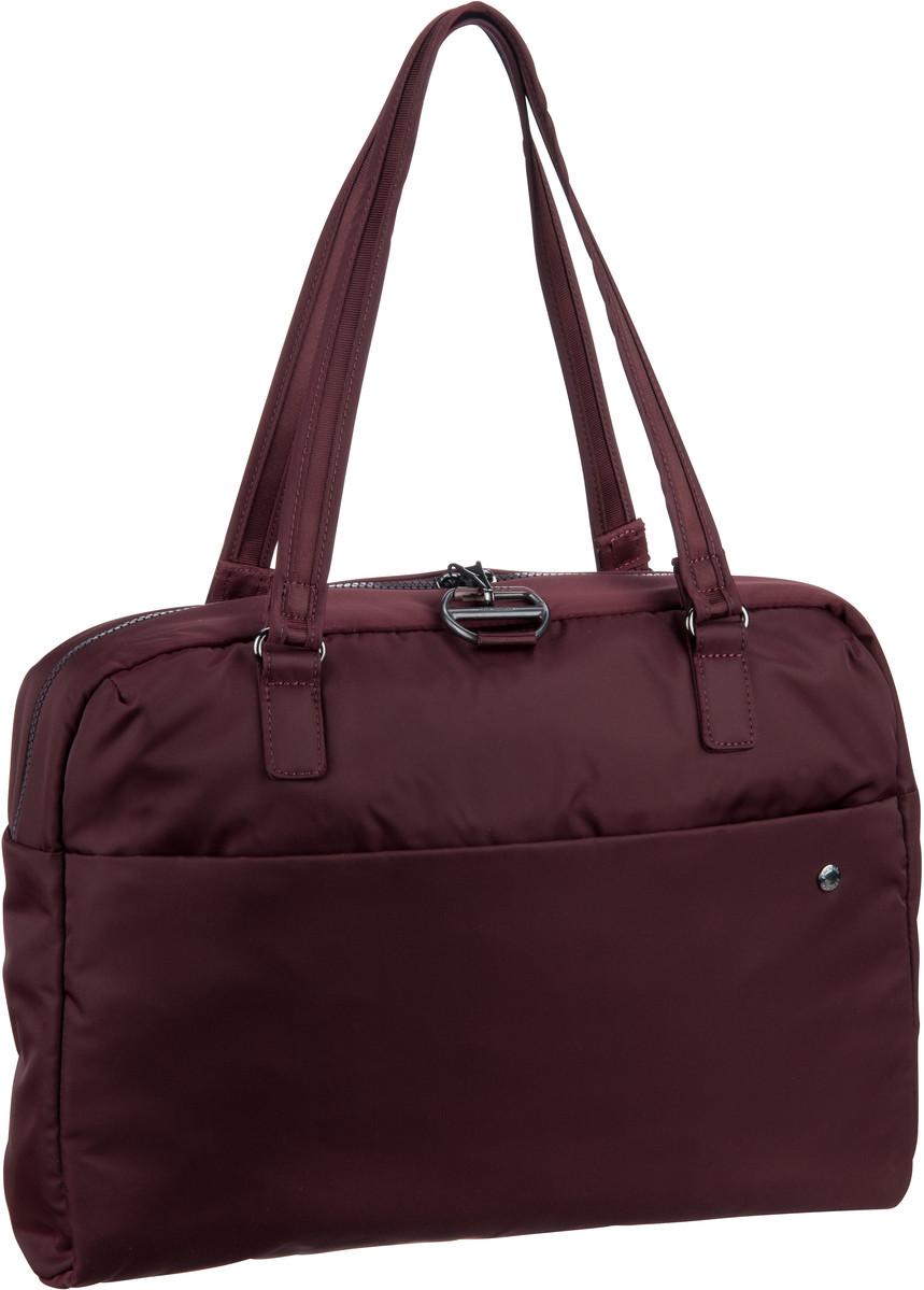 Businesstaschen für Frauen - Pacsafe Aktentasche Citysafe CX Slim Briefcase Merlot (13 Liter)  - Onlineshop Taschenkaufhaus